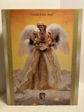 "GRANDEUR NOEL CELESTIAL FABRIC ANGEL 16"" IN BOX NEW"