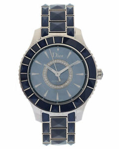 DIOR CHRISTAL BLUE MOP DIAMOND AUTOMATIC LADIES WATCH CD144517M001, MSRP: $7,250