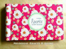 """Beautiful Mini Scrapbook Ring Album Photo Album """"Spring Favorite"""" 48Pages"""