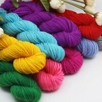 25g Soft Cotton Blend Hand Knitting Yarn Anti-Pilling Crochet Wool Yarns 4 Ply