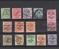 IRELAND 1922 SELECTION OF PROVISIONAL OVERPRINTS ON KGV STAMPS TO 1/- (14)