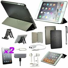 9 x Accessory Bundle Kit Black Leather Case Cover Stand For iPad Air 2 iPad 6