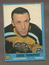 1962-63 Topps Hockey No. 19 Bruins Andre Pronovost Vg