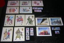 GB #1006-10 #1019-26 MNH with unused Maximum Cards 1982-83