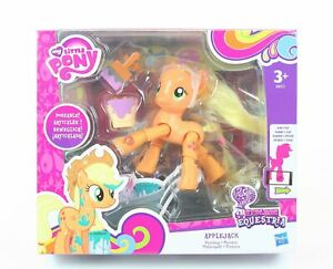 "MY LITTLE PONY equestria APPLEJACK 3"" poseable painting action figure toy - NEW!"