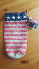 TITO'S VODKA Bag American Flag Drawstring Burlap With Tag 750 ml Size.