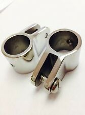 """2 Jaw Slide 316 Stainless Steel Fittings 7/8"""" for Bimini Top QUALITY Hardware"""