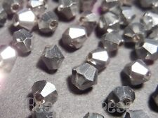 20Pc 6mm Fine Austrian Metallic Silver 5301 Crystal Glass Bicone Beads