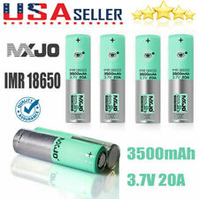 4Pcs MXJO GREEN 18650 3500mAh 3.7V HIGH DRAIN Flat Top Rechargeable Battery USA