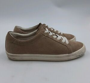 FRYE Suede Leather Men's Fashion Sneakers Casual Lace-Up Shoes Beige/Ash 9M US