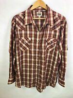 Ely cattleman XXL 2XL Long Sleeve Shirt Pearl Snap Western Plaid