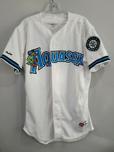 Rare VTG Rawlings Everett Aquasox Mariners Minor League Jersey Mens 44 L Sewn