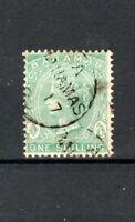 Bahamas 1863-80  1s green perf 14 FU CDS
