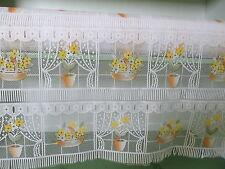 rideaux L 45 cm neuf fleurs  vendu par tranche de 20 cm
