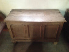 fine light stripped georgian limed oak coffer 17th century mule chest 3 panel