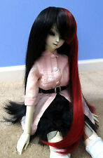 Doll Wig Long Straight Black, Red Split BJD Ball Jointed Size 7, 8, 9 NEW