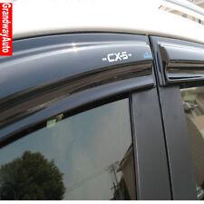 Car Door Window Rain Sun Guards Visor Weathershields Vent Trims For Mazda CX-5