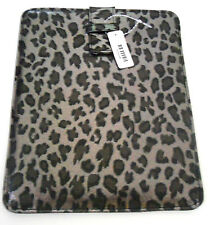 IPAD TABLET 1 & 2 GEN.COMPUTER e-READER PEWTER LEOPARD CASE SLEEVE POUCH COVER