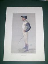 VANITY FAIR PRINT JOCKEY FRED BARRETT  HORSE RACING