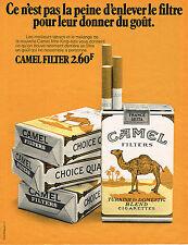 PUBLICITE ADVERTISING 064  1971  CAMEL  cigarettes