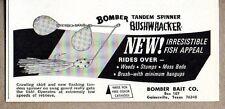 1967 Print Ad Bomber Bushwhacker Fishing Lures Gainesville,Texas