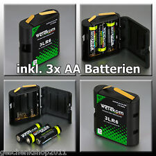 Flachbatterie Adapter Batteriebox 4,5 Volt 3 LR6 Wechselgehäuse + 3 AA Batterie
