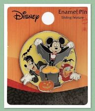 Disney Loungefly Mickey Mouse & Friends Halloween Sliding Enamel Pin New