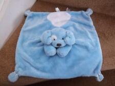 GUND SPINKY BLUE PUPPY DOG BABY COMFORTER SOFT BLANKET TOY SATINEESNUG 58969
