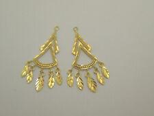 Cut Chandelier Earring Jackets 2447A Solid 14k Yellow Gold Thin Diamond