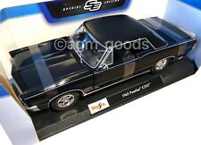 Maisto 1:18 Scale - 1965 Pontiac GTO - Black - Diecast Model Car