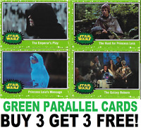 Topps Journey To STAR WARS THE RISE OF SKYWALKER GREEN PARALLEL INSERT CARDS
