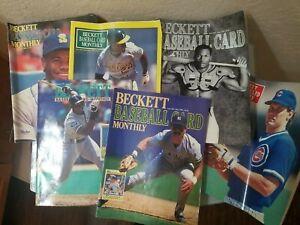 Lot 6 Beckett Baseball Magazine Ken Griffey Jr Bo jackson Frank Thomas 1990-91