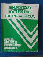 Outboard Shop Service Manual Honda BF20A;25A