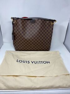 Authentic Louis Vuitton Graceful MM Damier Ebene Canvas Tote Bag N44045 A600