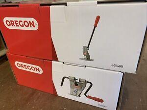 Oregon Chainsaw Chain Breaker & Rivet Spinner Bench Mounted 24548B & 24549B
