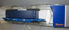 Roco H0 76748  _ SNCB Einheitstaschenwagen mit Container  _  Epoche V -VI _ NEU