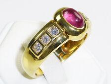 RING 750 Gold Turmalin Brillanten 750er Goldring Bandring hochklassig 18 k