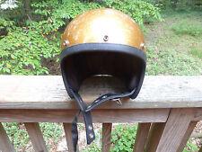 Vintage Arthur Fulmer Full Face Gold Metal flake Helmet AF20