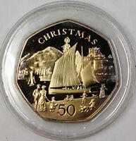 1981 Isle of Man Christmas Commemorative Gem Proof Beautifully Toned Coin