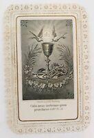 Vintage 1900s Lace Religious Holy Sacrament Card Psalm 22