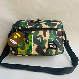 NWT Men's Japan Bape Camouflage Oxford Camo Messenger Bag Shoulder Bags