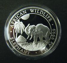 2017 Somalian African Elephant 1oz Silver Bullion Coin 100 Schillings