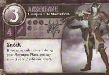 SUMMONER WARS CARD - XASERBANE - CHAMPION OF THE SHADOW ELVES