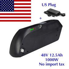 48V 12.5AH  1000W Black TIGER SHARK E-Bike Li-oin Battery for Electric Bicycles