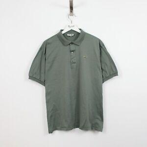 AC52 Vtg Chemise Lacoste Polo Mens Grey Short Sleeve Cotton Shirt 7 XXL