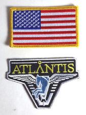 Stargate Atlantis Pegasus Logo & American Flag Uniform Patch Set 2