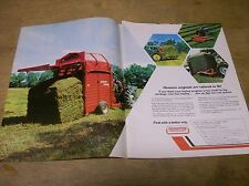 Original 1975 Hesston Hay Baler 2 Page Magazine Ad