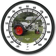 """New 1935 Rc Case Tractor Wall Thermometer 10"""" Round Years 1935"""