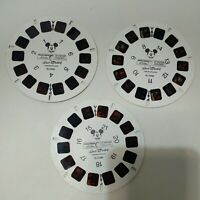 Mickey Mouse Viewmaster 3 Reels Hollywood Mickey Walt Disney 1-21 BJ0291-3