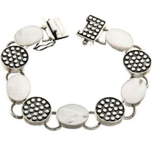 EXQUISITE MOTHER OF PEARL 925 STERLING SILVER bracelet